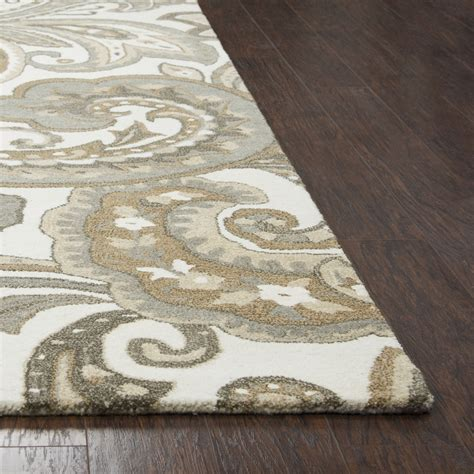 Suffolk Rug by Suffolk Paisley Wool Area Rug In Beige
