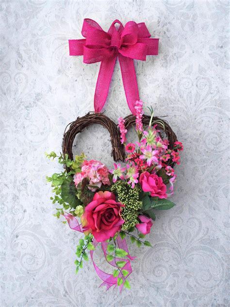 valentines day wreath heart wreath front door wreath