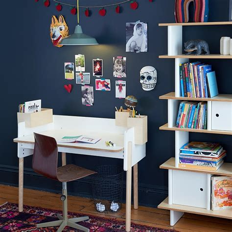 oeuf vertical mini library shelf unit dark walnut