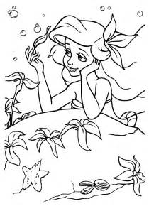 mermaid coloring pages 1 coloring kids