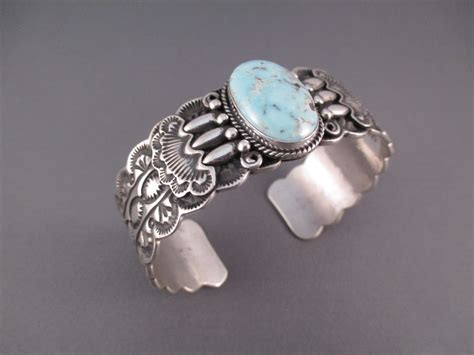 silver jewelry br3305 sterling silver and creek turquoise cuff