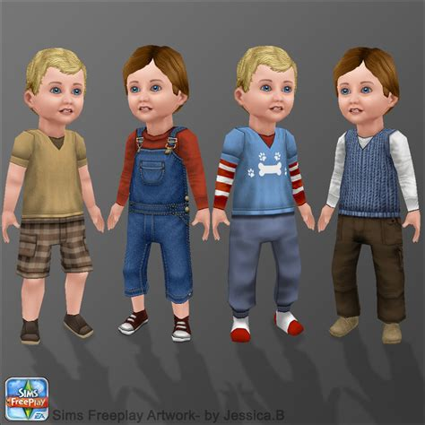 how to get long hairs on sims freeplay sims freeplay toddler boys by nef jessb on deviantart