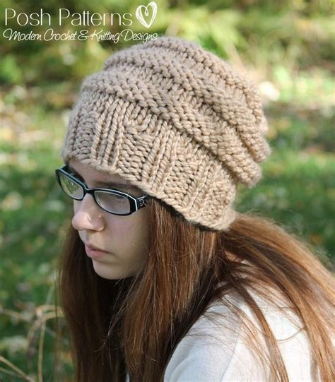 Bee Knit Hat knitting pattern beehive slouchy hat knitting pattern