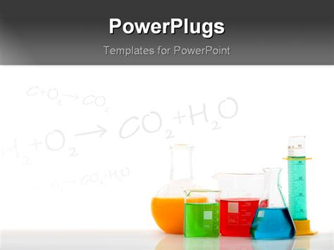 free chemistry powerpoint templates chemistry bottles with different colour liquid inside over