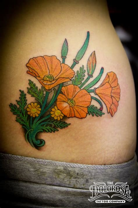 california poppy tattoo designs poppy designs about