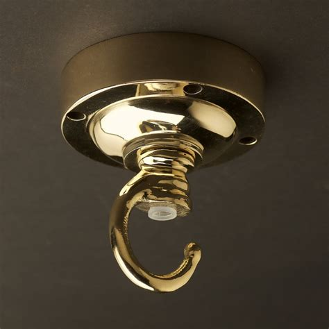 ceiling light hook flush mount cast brass chain hook ceiling