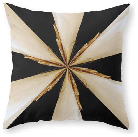 black white and gold throw pillow