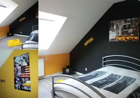 chambre ado et gris deco chambre ado gris et jaune