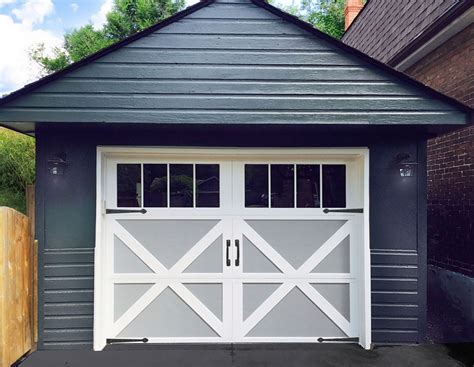 Garage Makeover From Run Down To Revitalized Garage Doors