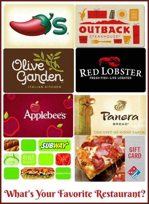 Restaurant Gift Cards By Email - 50 restaurant gift card or paypal giveaway