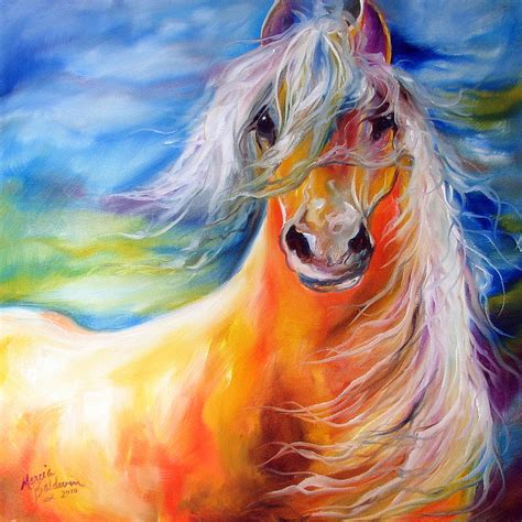 imagenes figurativas bright day equine painting by marcia baldwin