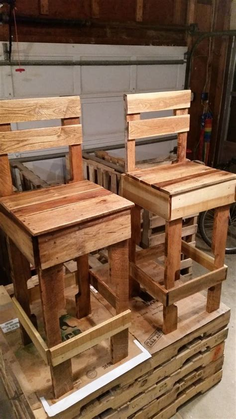 chairs made from wood pallets pallet bar chairs 125 awesome diy pallet furniture