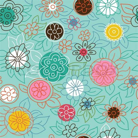 Flower Pattern Modern | modern floral pattern stock vector colourbox