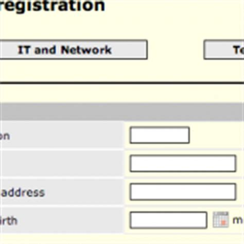 employee registration form sle employee registration form
