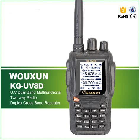 Wouxun Walkie Talkie Two Way Radio Vhf Uhf 999ch Large Display Kg Uv8d wouxun kg uv8d vhf uhf dual band two way radio original