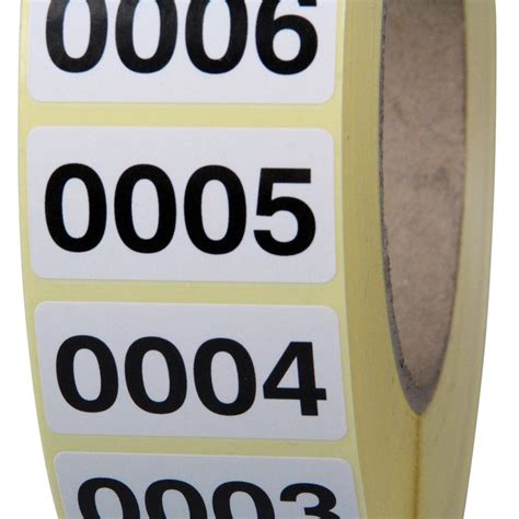 Etikettenrolle Rund by Fortlaufend Nummerierte Etiketten Haftpapier 40 X 20 Mm