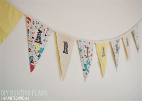 Banner Flag Diy Bunting Flag Do It Yourself Custom Request information about thepaintedhive net the painted hive budget friendly diy interior decorating
