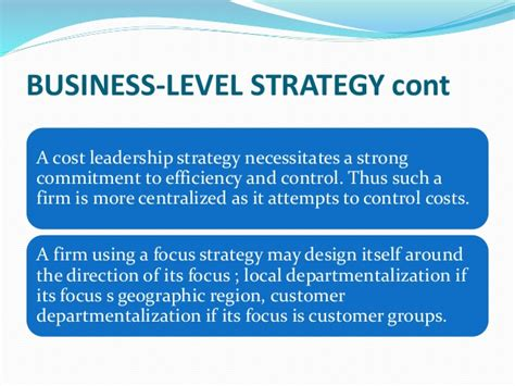 Mba With Focus On Strategy by Presentation On Strategy And Structure