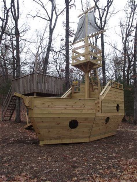 backyard pirate ship plans pirate ship playhouse plans kid stuff pinterest
