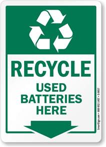 recycle sign template battery recycling signs and labels
