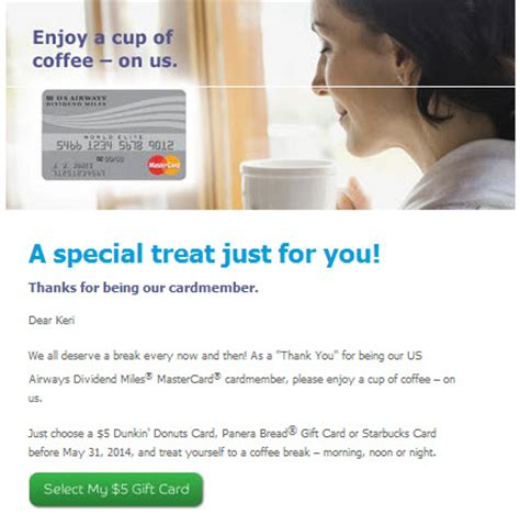 Us Airways Gift Card - heels first traveldoes your barclay credit card come with free coffee heels first
