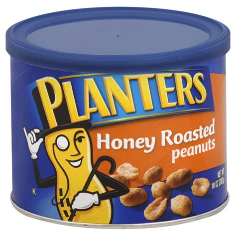 Planters Honey Roasted Peanuts Nutrition by Planters 174 Honey Roasted Peanuts 10 Oz