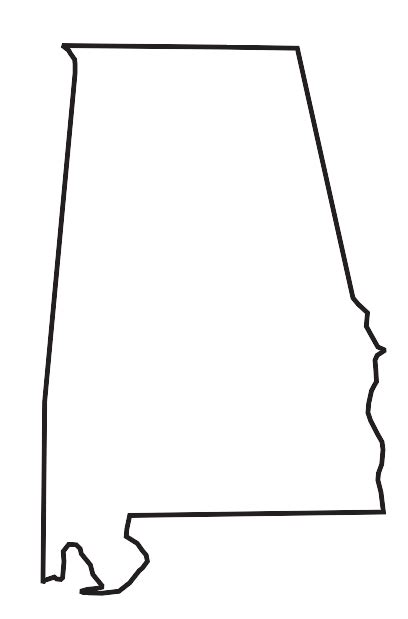 alabama map outline alabama state outline clip quotes