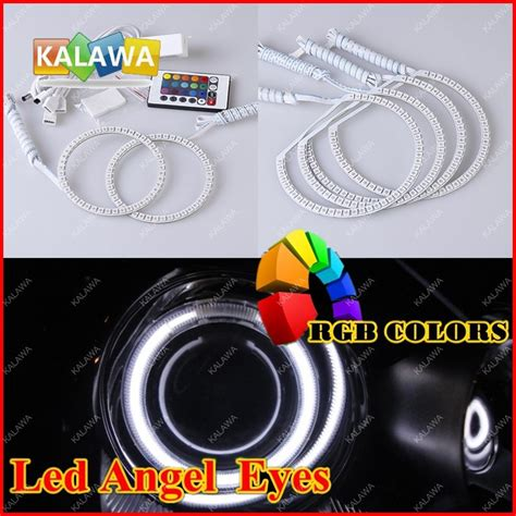 Led Light Smd 5050 Rgb 7 Color With Eu Controller 3 rgb led rings kit 5050 smd headlight ring 7 colors with remote for vo lo