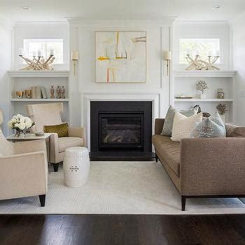 built in shelves around fireplace with windows interior design inspiration photos by city homes design