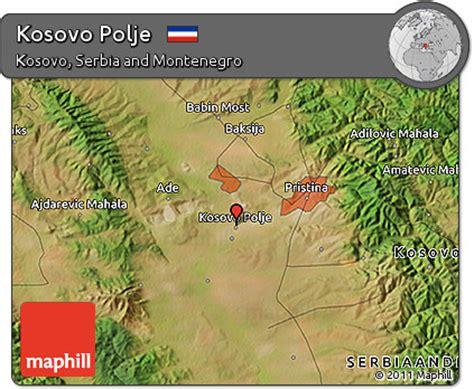 maps kosovo satellite free satellite 3d map of kosovo polje