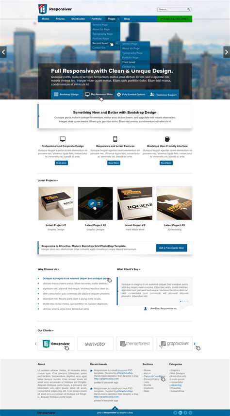 psd templates for bootstrap responsiver multipurpose bootstrap psd template by