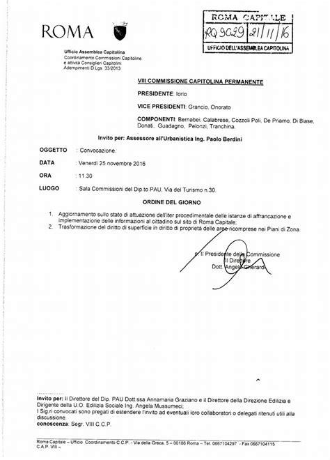 ufficio urbanistica roma commissione urbanistica capitolina aggiornamento sulle