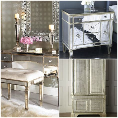 Hayworth Bedroom Collectionbrookes Blonde Reality Mirrored | hayworth bedroom collectionbrookes blonde reality mirrored