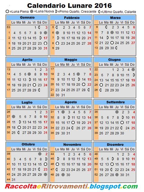 Calendario Lunare Raccolti E Ritrovamenti Gennaio 2012
