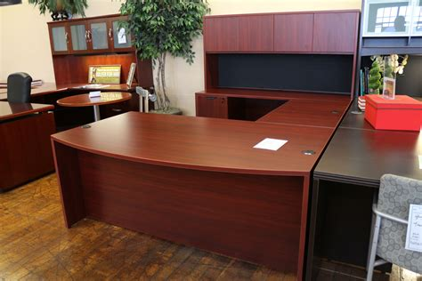u shaped executive office desk warren series cherry u shaped laminate