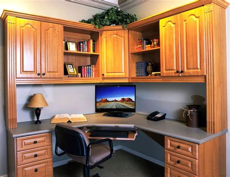 corner office desk with hutch and amazing lighting
