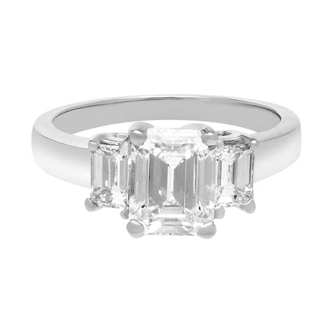 certified engagement rings 2 03 ct emerald cut world