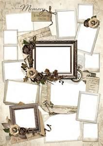 memorial photo collage design template elegance