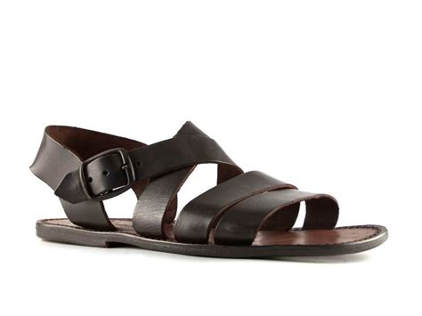 italian mens sandals handmade in italy mens sandals in brown leather