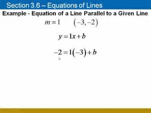 finding equations of lines given a parallel or