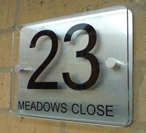House Number Sign by Modern House Number Sign Plaque Aluminium Acrylic Ebay