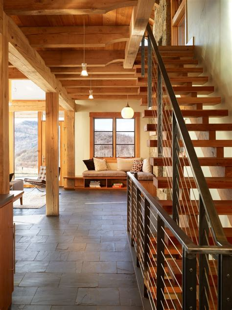 brown stair railing design for wooden home ifresh design