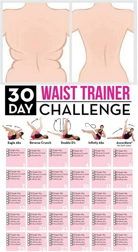 30 day waist trainer challenge get your exercise muffin top exercises fitness