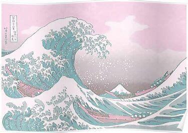 pastel  great wave  kanagawa poster  freshfroot