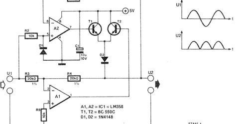 rectifier diode circuit precision rectifier circuit diy