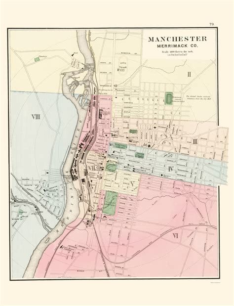 manchester new hshire map historic city maps manchester new hshire nh by