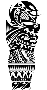 create a badass tribal tattoo style logo illustration