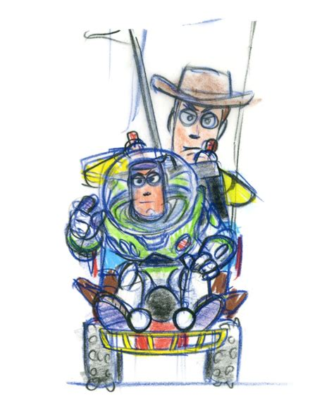 Story And Concept 2 by Story At 20 See Pixar Concept For Buzz And Woody