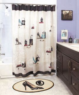 fashion bathroom decor halloween haunted house bath shower curtain rug pump set