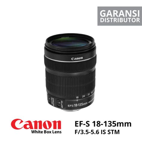 Canon Lensa Ef S 18 135 F3 5 5 canon ef s 18 135mm f 3 5 5 6 is stm white box harga dan